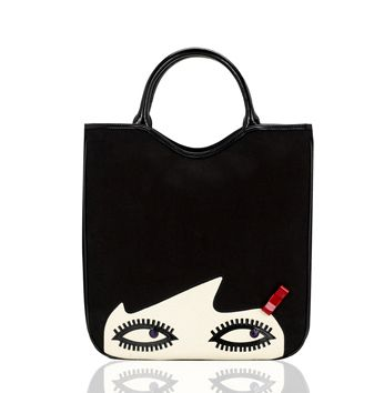 Cat Purse LARGE MORN CREATIONS bag kitty meow Black /& White