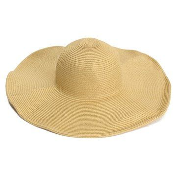 Female Summer Sunshade Large Wide Floppy Brim Straw Beach Hats Straw Hat Beach Large Brim Hat Beach Hat