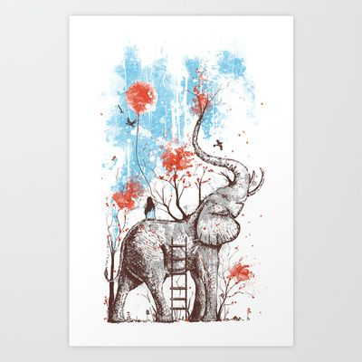 A Happy Place Art Print by Norman Duenas - $20.00