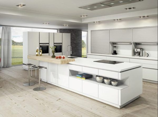 de 30 fotos de decoración de Cocinas Blancas modernas HomeDesign - Cocinas Integrales Blancas