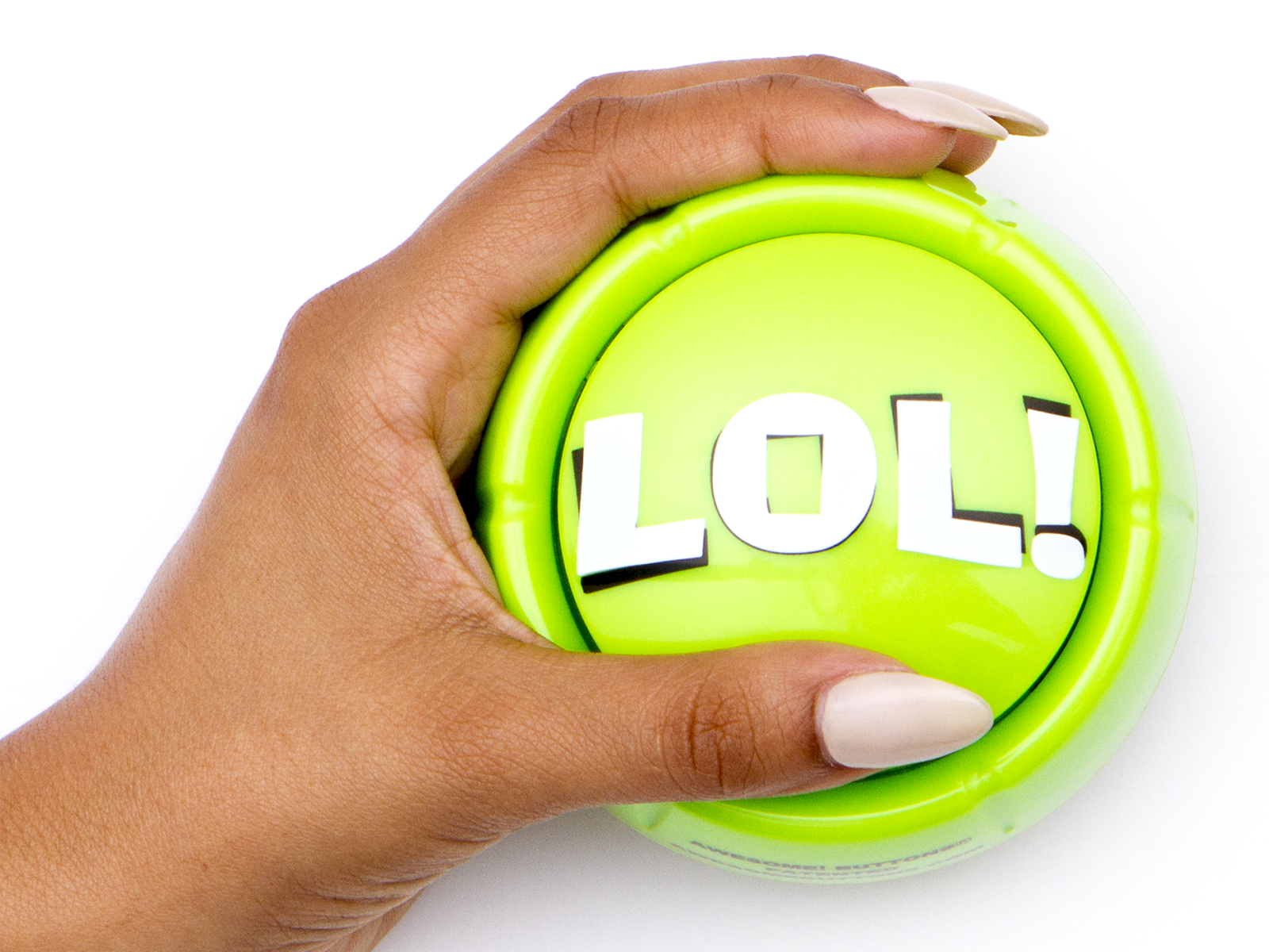Collect the LOL! button today at http://Awesomebuttons.com/lol-button-hilarious-and-unique-audio-desk-top-fun You'll love these desk toys!