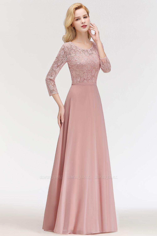Bmbridal Elegant 3 4 Sleeves Lace Long Dusty Rose Bridesmaid Dresses Online In 2021 Bridesmaid Dresses With Sleeves Lace Chiffon Bridesmaid Dress Lace Bridesmaid Dresses [ 1500 x 1000 Pixel ]