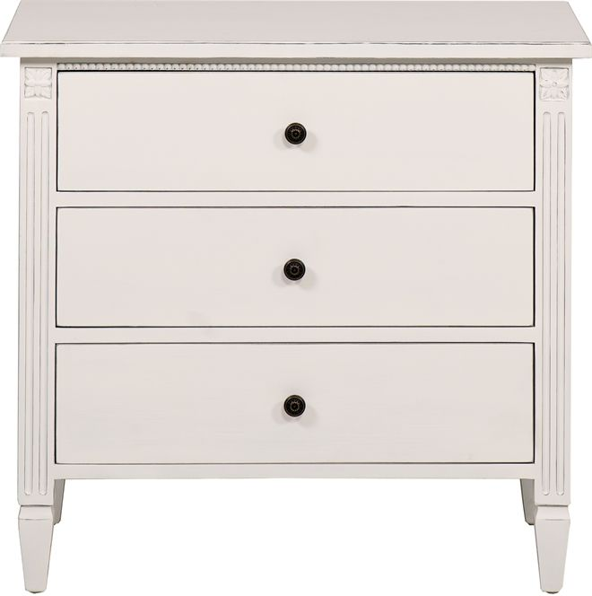 Neptune Bedroom Chest of Drawers - Larsson 3 Drawer Low Chest Of ...