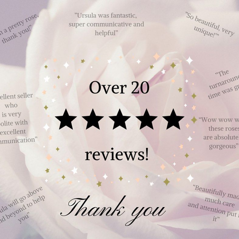 A massive thank you to all my customers who took the time to leave some amazing reviews! .