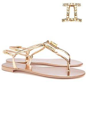 I adore these Giuseppe Zanotti t-strap sandals with zodiac detail.  I picked Gemini, my birth sign, but they have them all!  #amyesperstyling