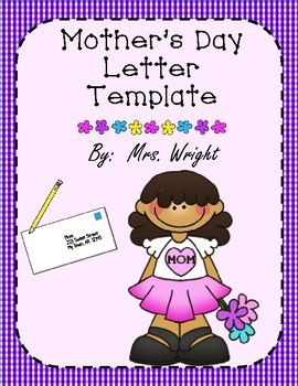mother s day letter writing template tpt language arts lessons