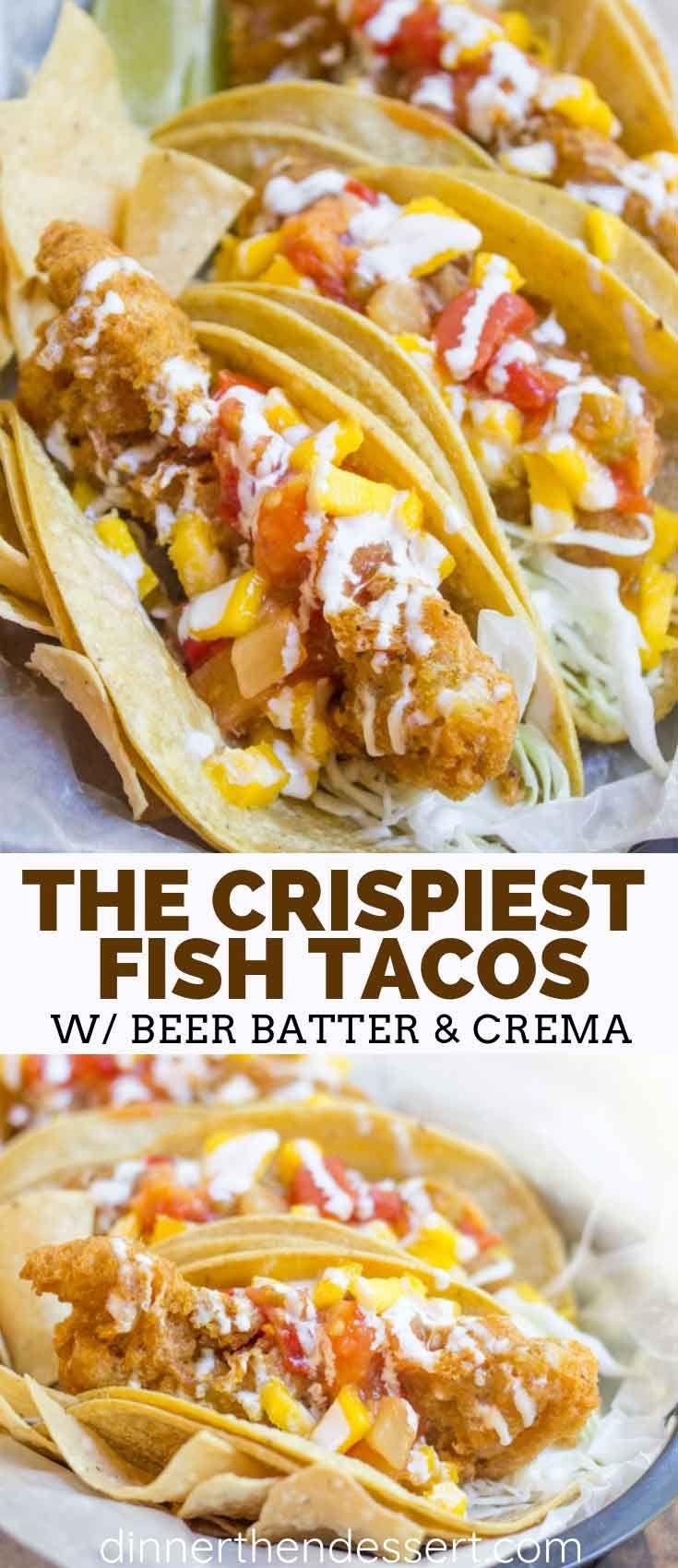Fish Tacos {Beer Battered Fish Tacos!} - Dinner, then Dessert