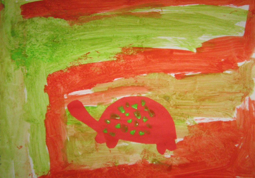 complementary color turtles lesson plan painting for kids