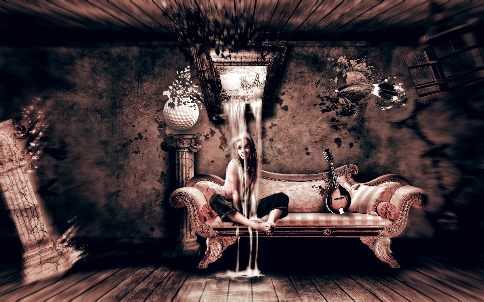 sitting on fancy couch surrealism | cool backgrounds | pinterest