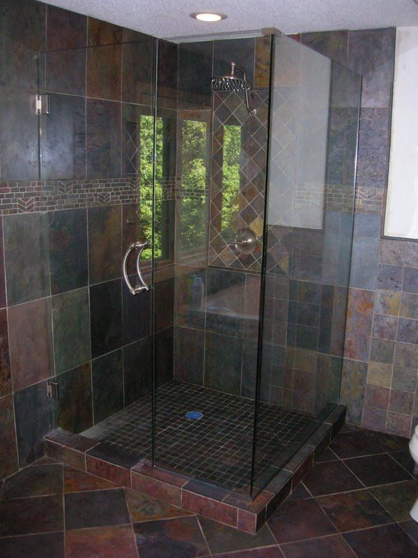 5 Types Of Bathroom Tile For The Shower Area Slate Bathroom 600 800 Bathroom Ideas