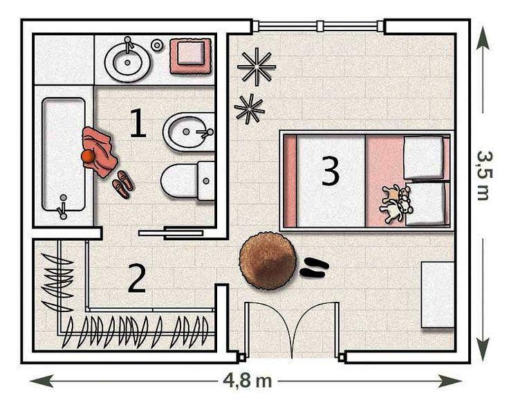 Resultado De Imagen Para Dormitorio Matrimonial Con Bano Y Vestidor Planos De Dormitorios Plano De Habitacion Planos De Dormitorio Principal