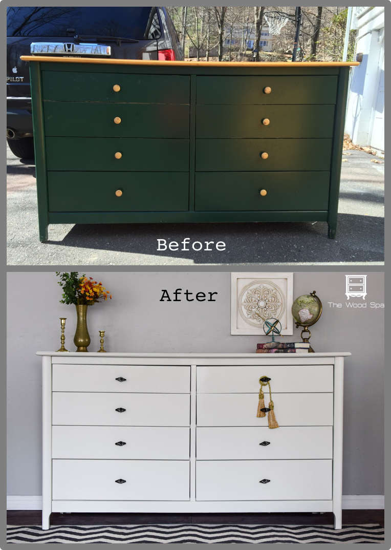 Dresser And Nightstands With Valspar Furniture Paint Again