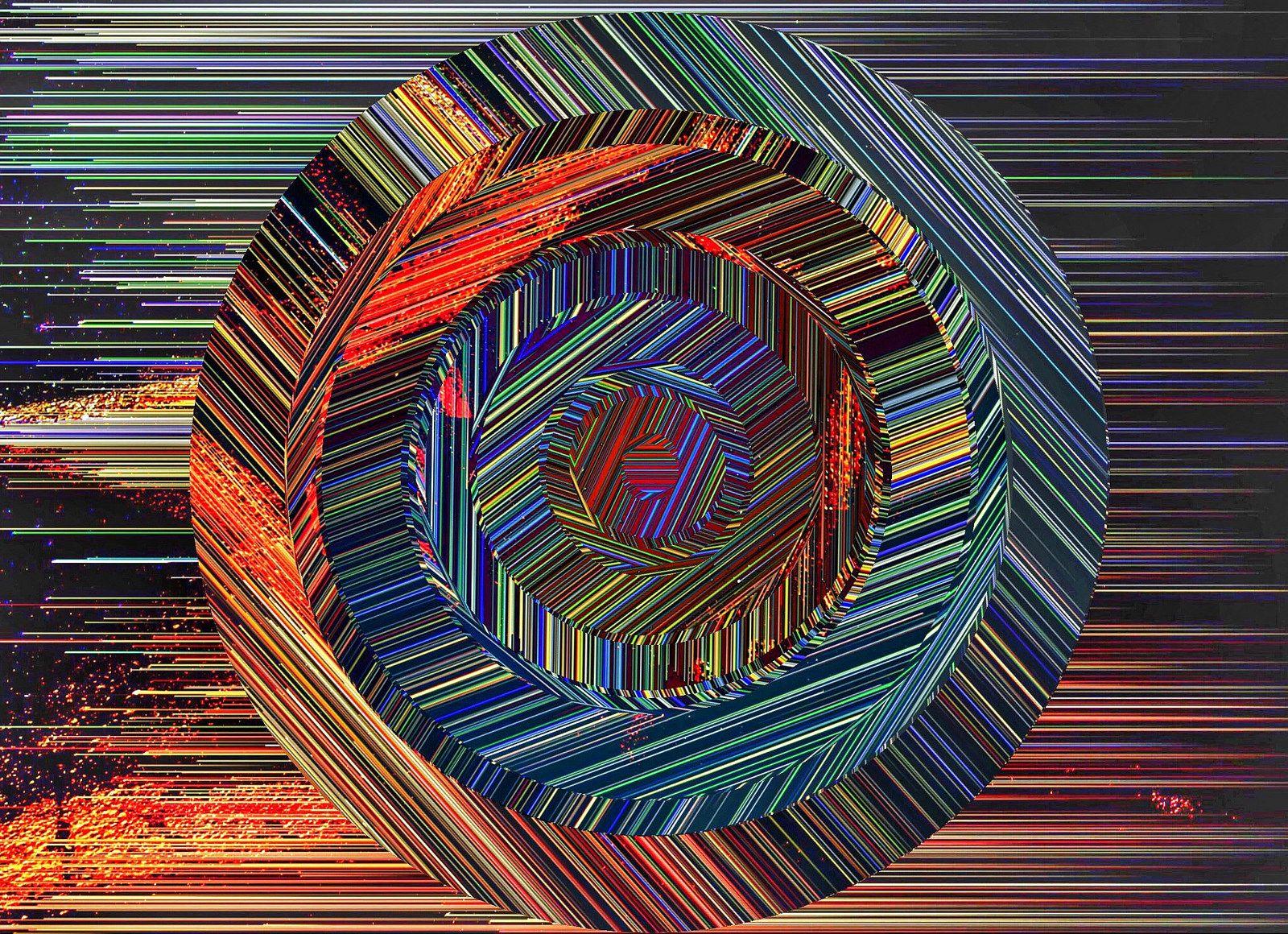 Circled, Anne Hennessey, glitch and digital manipulation.