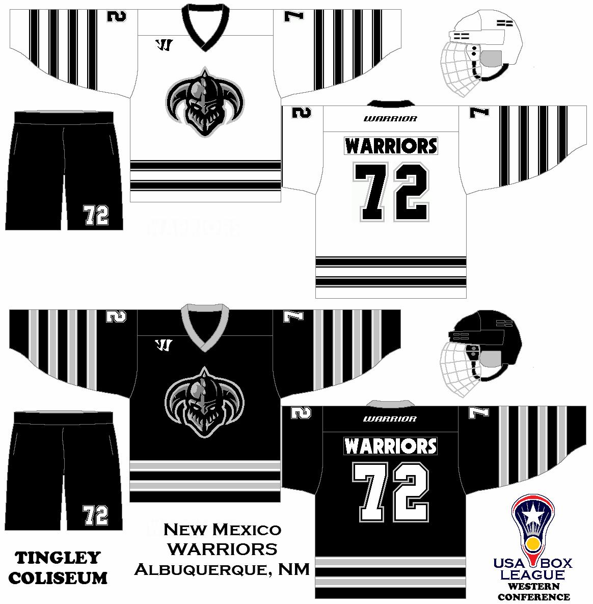 My Fictional Box Lacrosse League The Us Box Lacrosse League New Mexico Warriors Uniform Set Concept Box Lacrosse Hockey Jersey Lacrosse