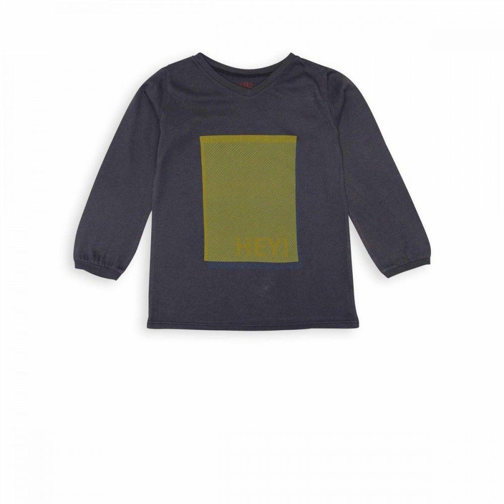 HEY t-shirt gris colere - t-shirt Boys Girls - BONTON