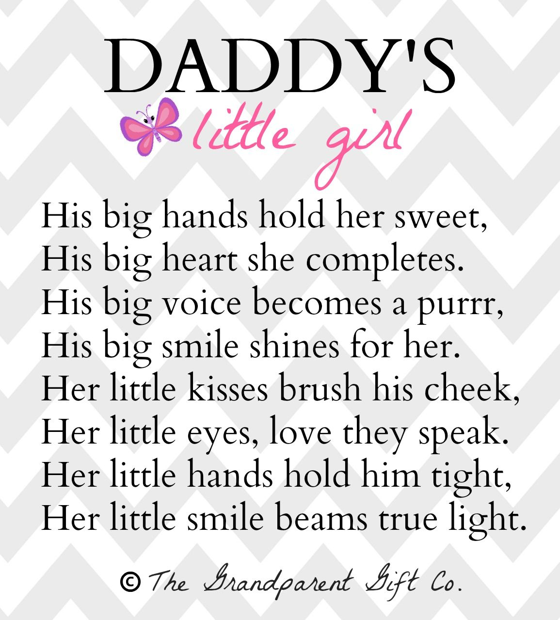 Daddys Little Girl Poem By The Grandparent Gift Co Fathers Day
