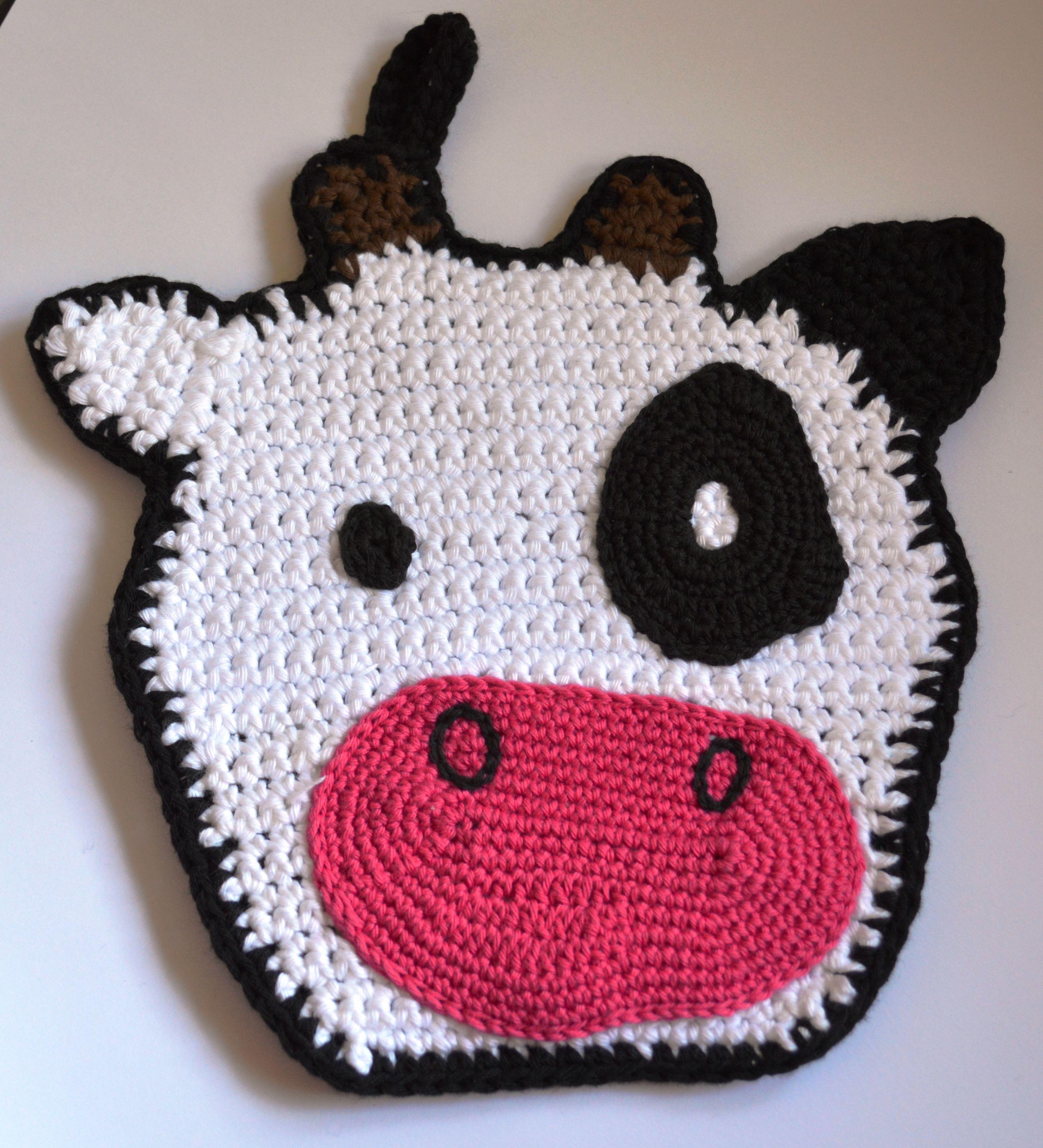 Crochet - potholders Pattern avaible but only in danish   Crochet ...