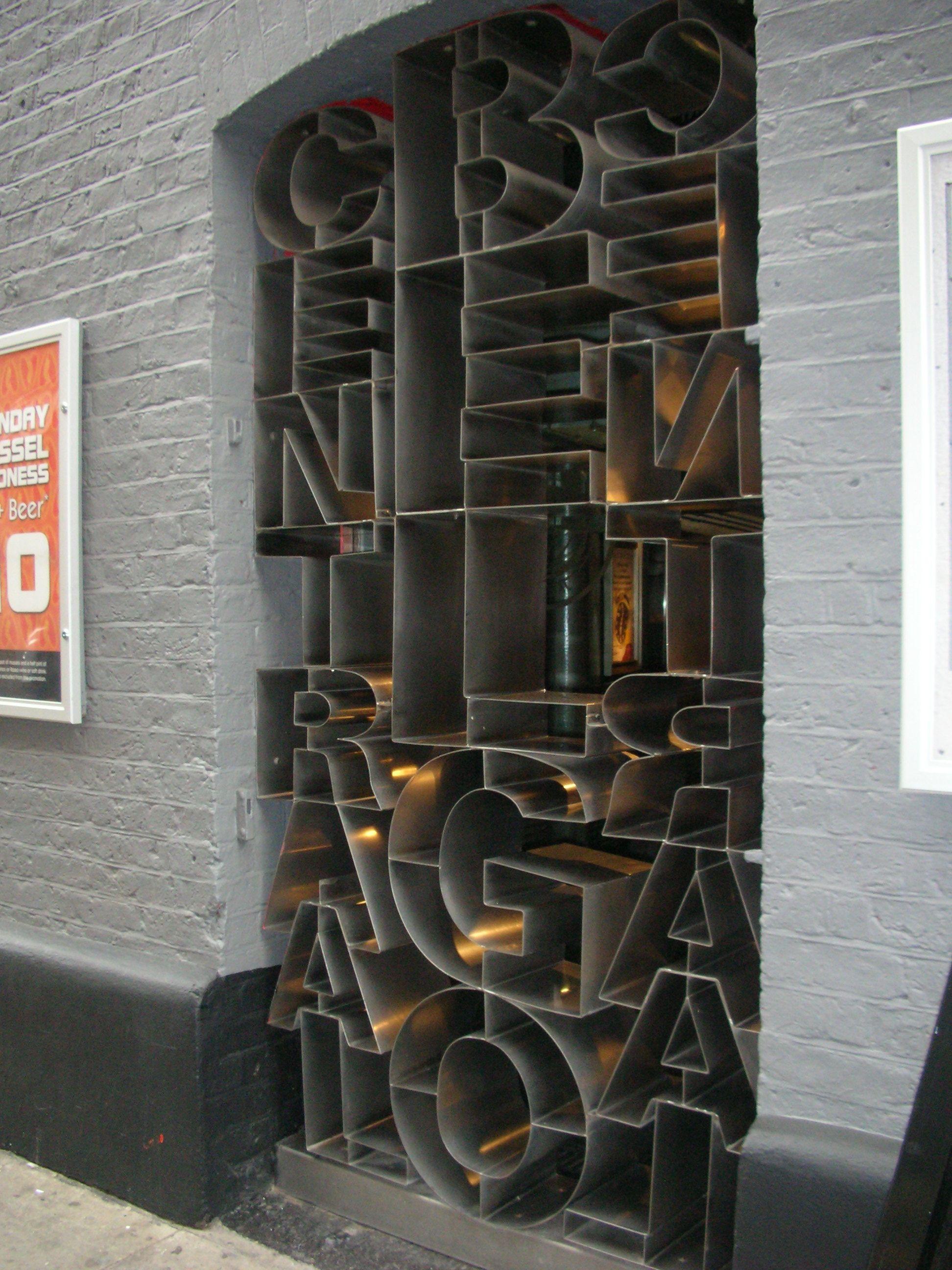 cool typography doorway