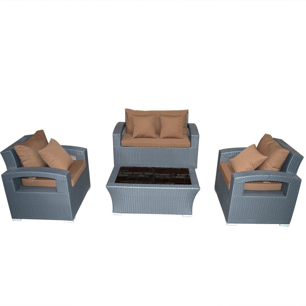 Mayshion outdoor backyard piece resin rattan wicker sofa sectional