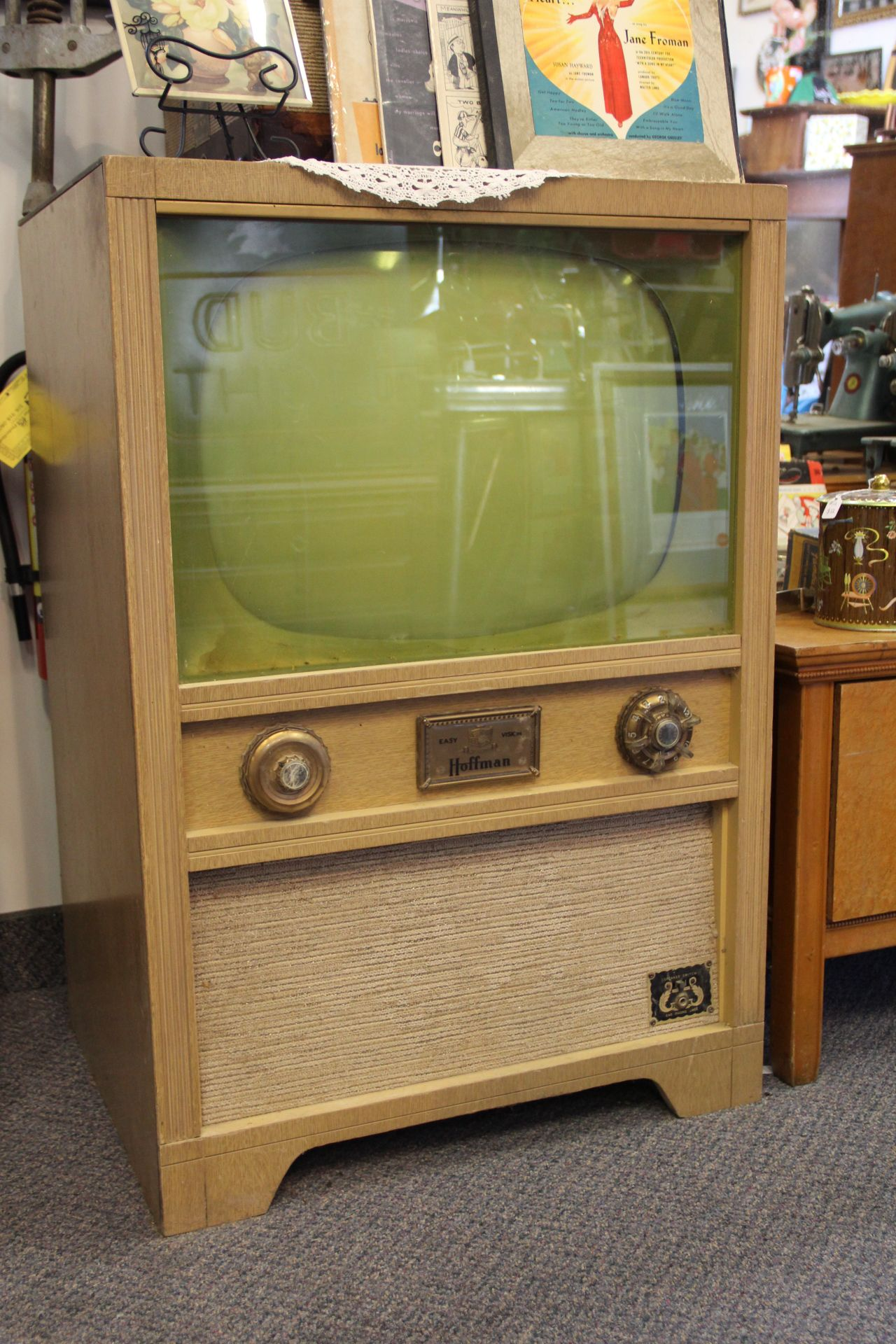 Old Console Tv ~ Vintage s hoffman console television http