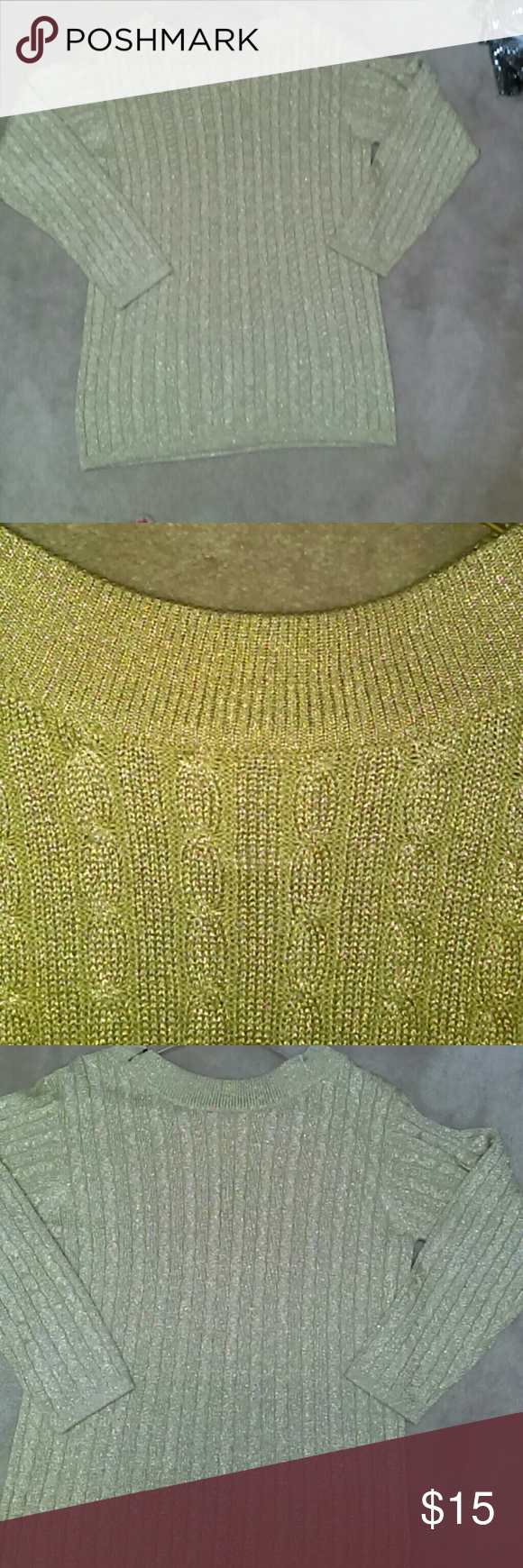 Preston and York Gold cable knit sweater | Cable knit sweaters ...