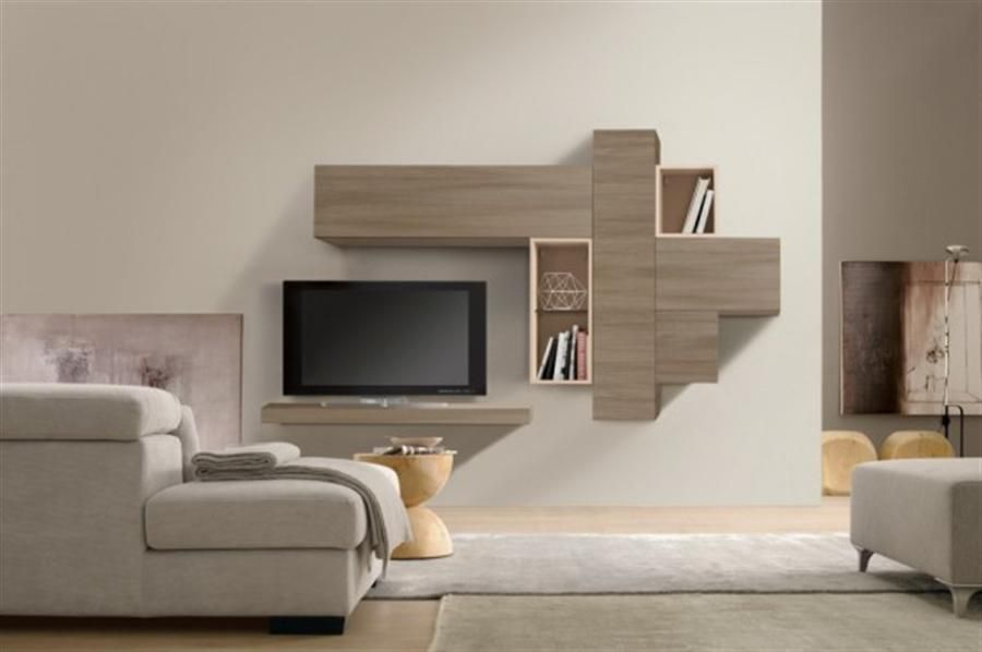 Si vous aimerez avoir une salle de séjour moderne alors larmoire de rangement avec un look élégant et lignes épurées est le meuble parfait pour vois