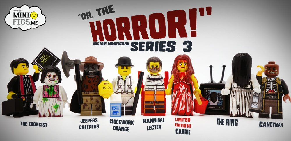 Lego Minifigure Custom Hanibal Lecter Horror New