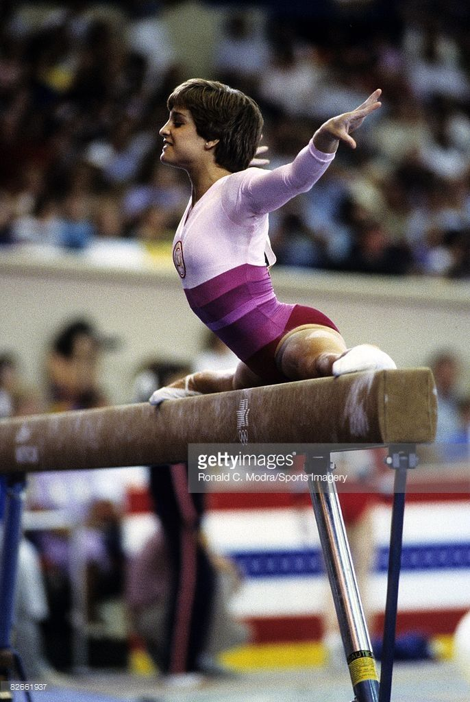 Mary Lou Retton during the U.S. Olympic Trials in 1984.