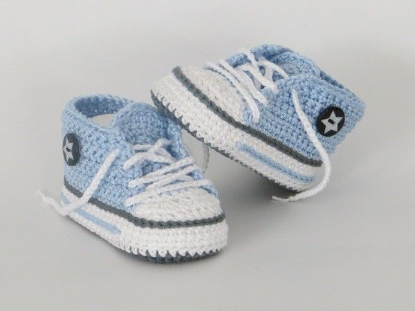 Photo of Crochet baby shoes / trendy baby sneakers