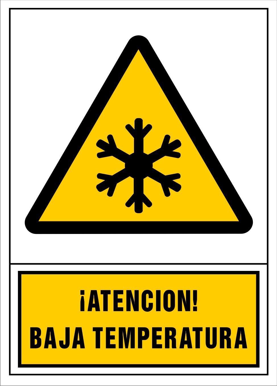 Senal Atencion Baja Temperatura Senalamientos De Seguridad