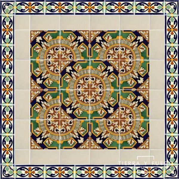 Portalegre 3 Border Terra Nova Hacienda Ceramic Tile Ceramic Tiles Mexican Ceramics Portalegre