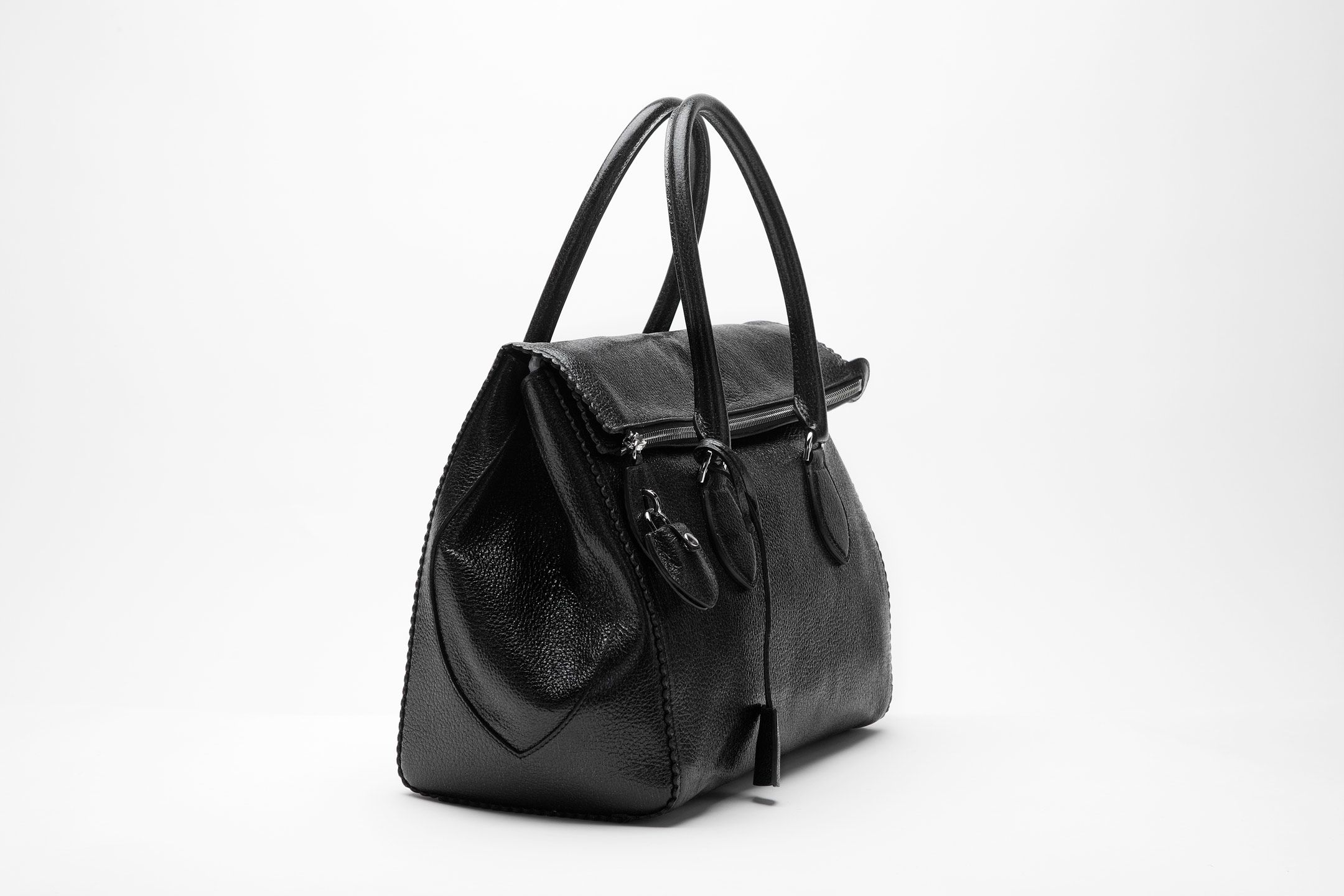 Made Entirely From The Finest Deerskin Rochas Bag In Black Is Ideal Statement Luxury Paris Modewalk