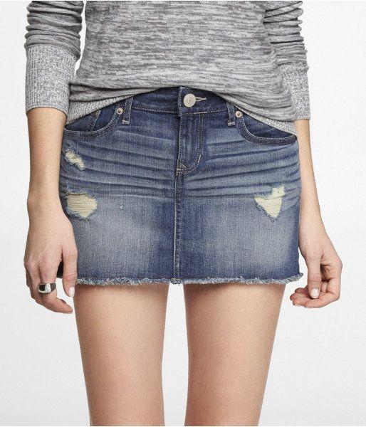 f2d9dbb7e Shop Denim Jeans Skirts | Jeans & Clothes | Denim mini skirt, Denim ...