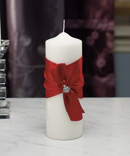 Quite elegant  Red Wedding Perfection - Ruby Red: Monroe Collection Candle. www.ceceliasbestwishes.com