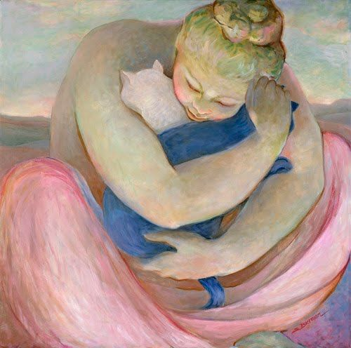 Sandra Bierman...so love the love here as well as the pinks for light...