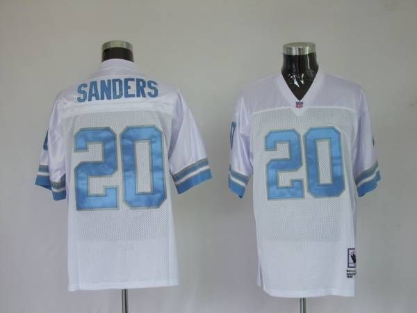 timeless design 2bffe e4e4e Mitchell & Ness Lions #20 Barry Sanders White Stitched ...