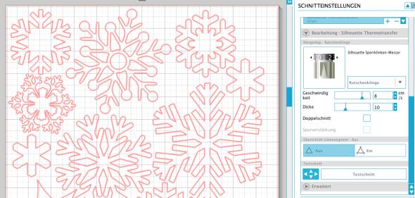 Schneeflocken basteln Fenster