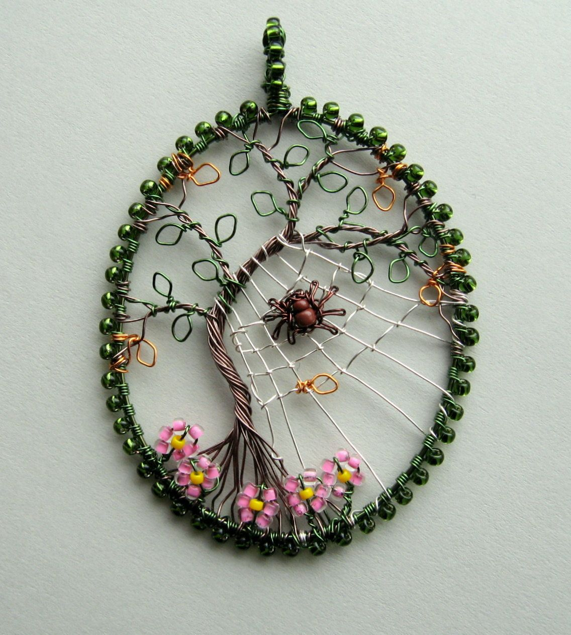 the last day of summer wire wrapped tree of life pendant. Black Bedroom Furniture Sets. Home Design Ideas