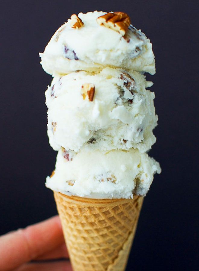 simple butter pecan ice cream made in a cuisinart ice cream maker light soft flavo on hebbar s kitchen recipes videos ice cream id=84311