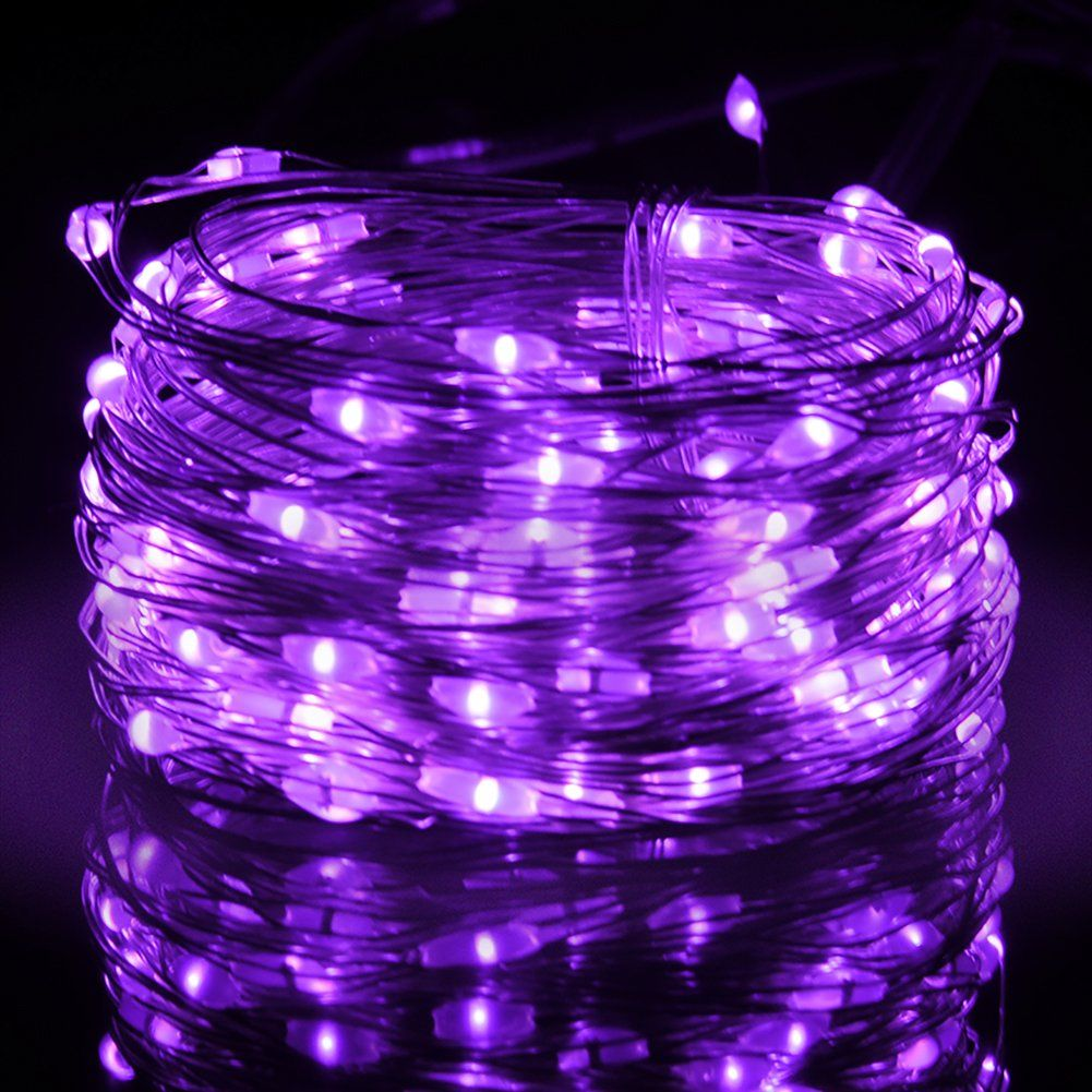 Yafei led string lights 5m 50 leds decorative fairy battery powered yafei led string lights 5m 50 leds decorative fairy battery powered string lights purple aloadofball Gallery