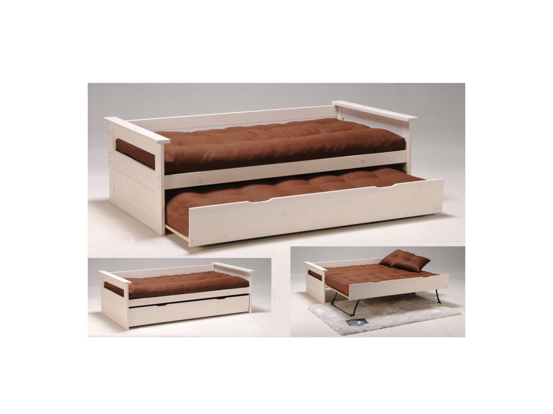 Matras 90x190 Ikea : Uitschuifbed alfonso cm wengé of wit grenen met of