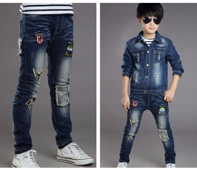 F17019# 2017fashion Latest Children Straight Cartoon Patch Broken Soft Boys  Jeans Kids Pants China Wholesale - Buy 2… | Kids jeans fashion, Kids  outfits, Jeans kids