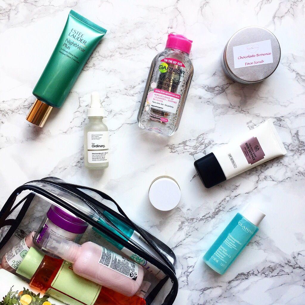 0d18c1a85267 What's In My Travel Skincare Bag | B L O G | Skin care, Beauty ...