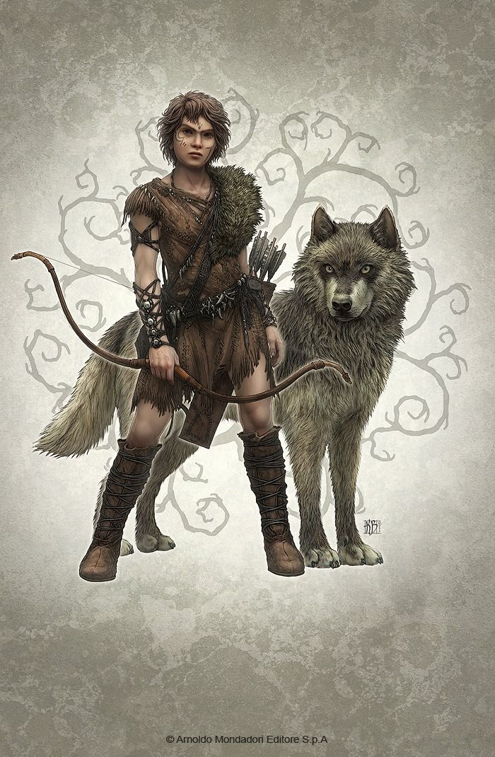 Wolf Brother Picture 2d Illustration Wolf Archer