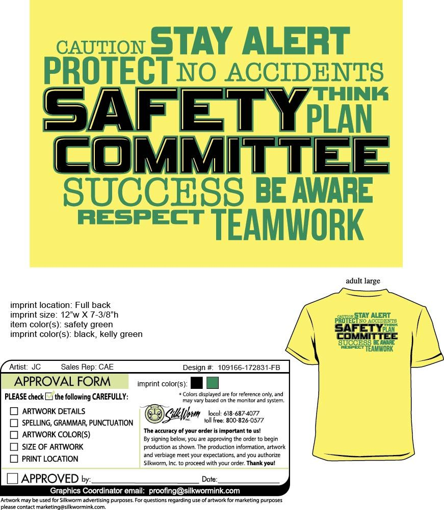 Aisin Light Metals Safety Committee tshirts Custom
