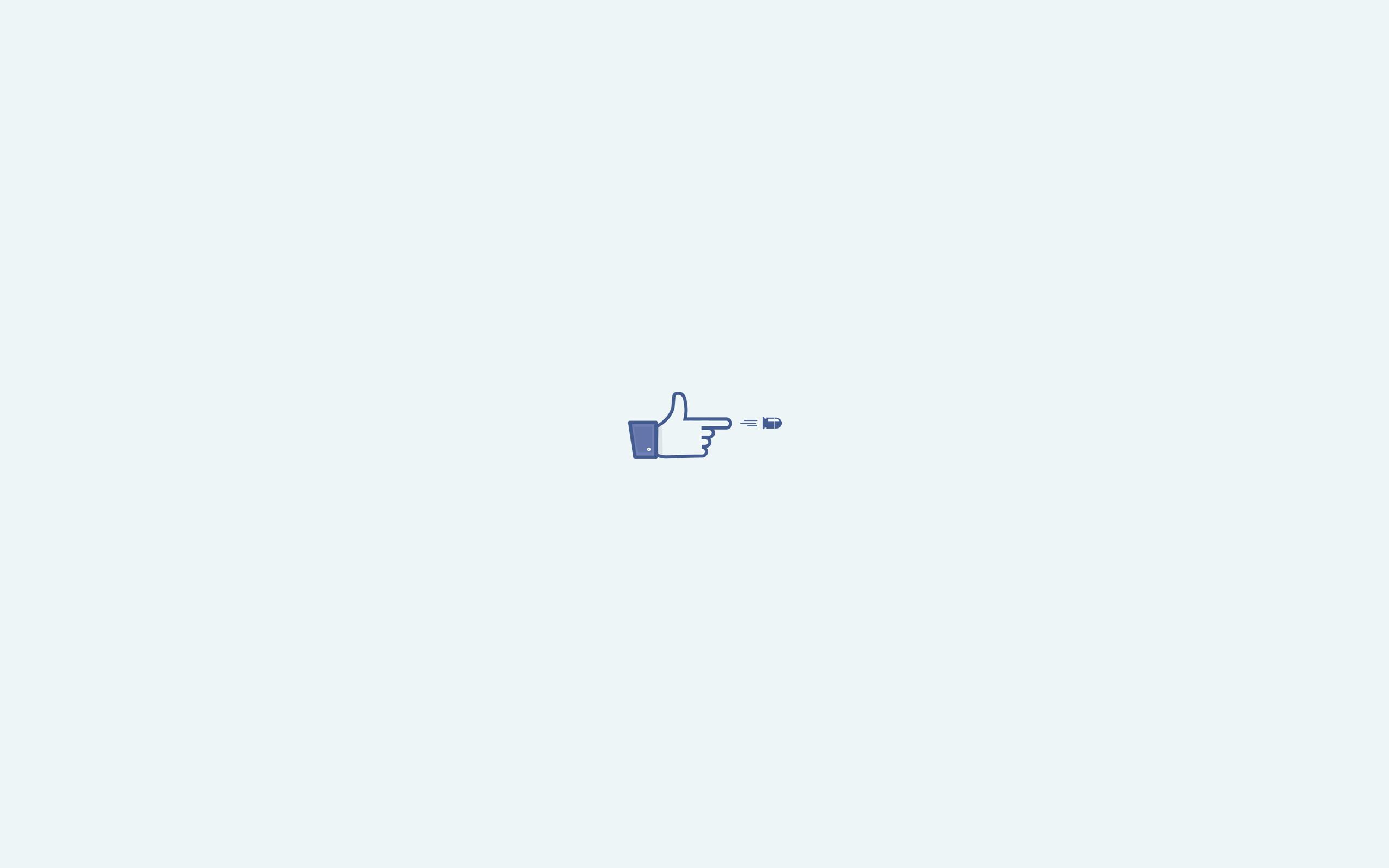 Facebook Like Minimalist Wallpaper