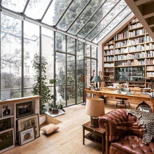 Interior Design Vs Architecture Reddit: Home Library In The 13th Arrondissement Of Paris Via
