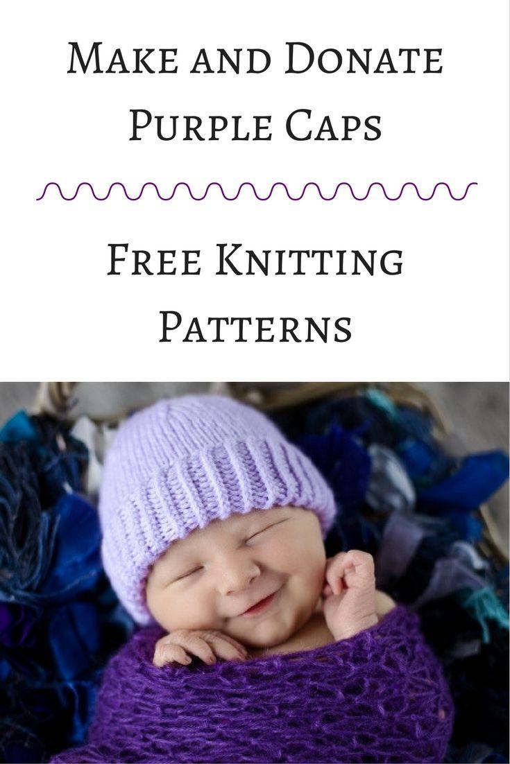 Purple Hats For Newborns Handy Little Me Baby Hat Knitting Patterns Free Baby Hats Knitting Baby Hats Knitting Free