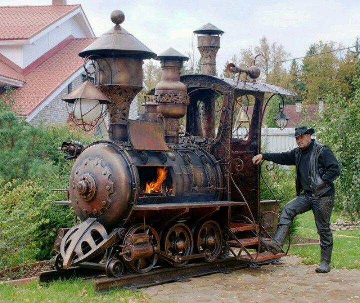 Treno steampunk