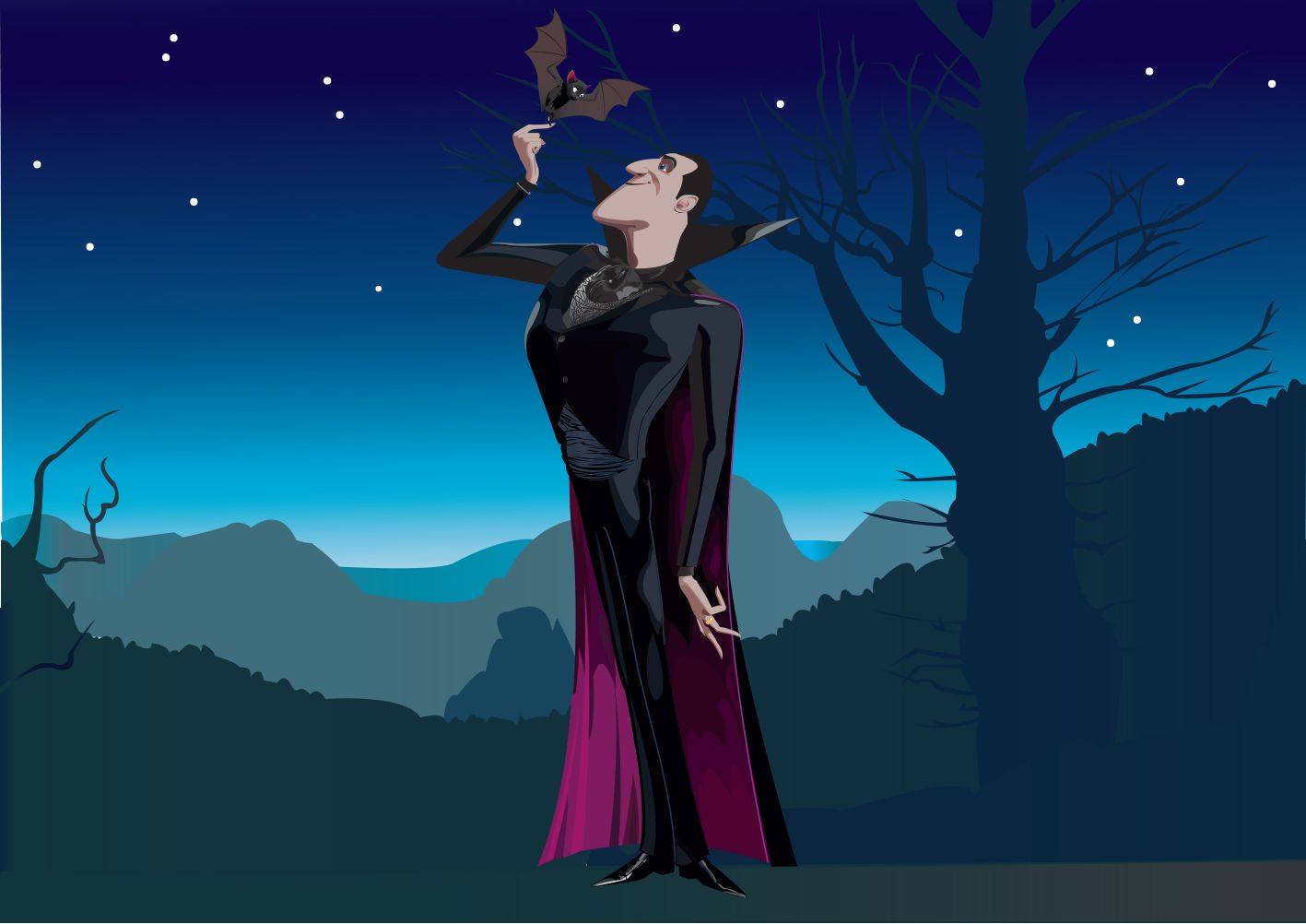 Dracula Dans Hotel Transylvania - Dessin Vectoriel